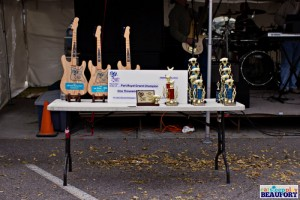 These trophies await the winners at Bands Brews & BBQ