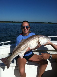 Redfish are the rulers of Beaufort's waters.