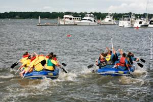Paddle Rats take win in wild Beaufort Water Festival Raft Race