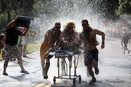 Wet and wacky Beaufort Water Festival bed races