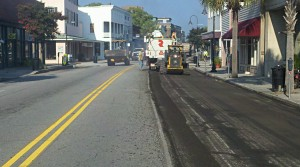 Bay Street paving project is in full swing this morning