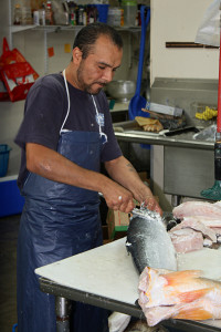 Fresh local seafood from Beaufort's Sea Eagle Market
