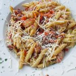 The Foolish Frog's Shrimp Penne Pasta will satisfy your craving for seafood and pasta to a tee.