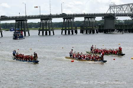 The Beaufort River saw its first-ever DragonBoat Race last July. Dragon boating is the world's fastest growing water sport and Beaufort has its very own DragonBoat Beaufort, a team formed of cancer survivors and their enthusiastic supporters.  Photo by Ryan Smith