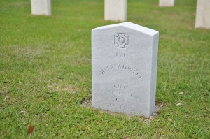 Previously unknown Confederate soldier's grave marker unveiled at Beaufort National Cemetery  Photo by Amy Lane