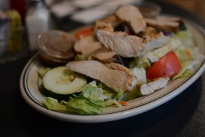 Boondocks salad with chicken
