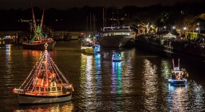 Beaufort's annual Light Up the Night Boat Parade. Photo by Phil Heim