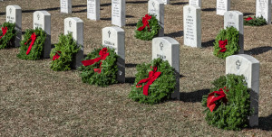 Wreaths Across America places over 4,000 wreaths at Beaufort National Cemetery