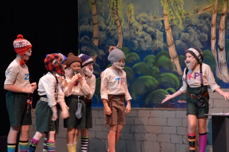 Kids performing in the Beaufort Children's Theater's 2014 production of 'The Rockin' Tale of Snow White'
