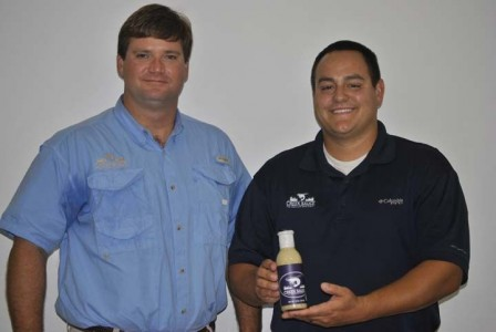 Creek Sauce creators Jay Cook and Kyle Strickland.  Photo courtesy Colleton Today