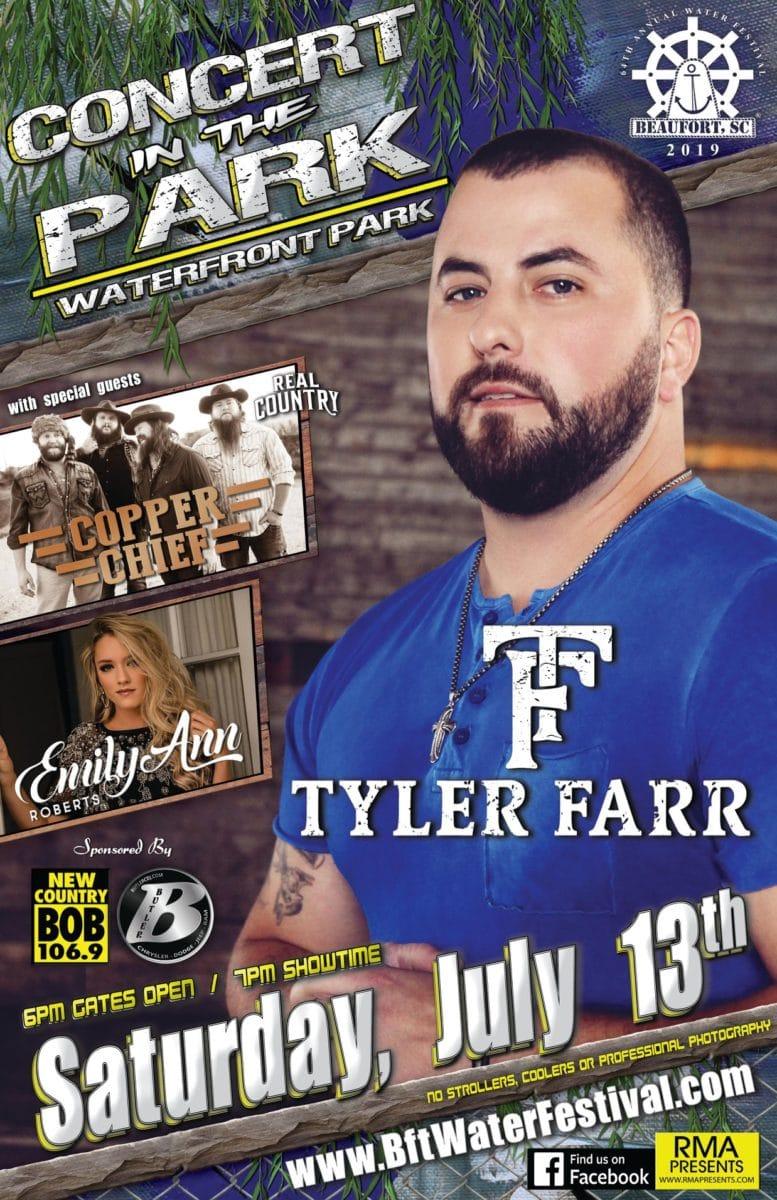 Tyler Farr 2019 Beaufort, SC Water Festival
