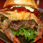 Nick's Fat Patties even puts a soft shell crab on a burger.  This is called the 'Crabby Pattie'. Try one this season.  Photo ESPB