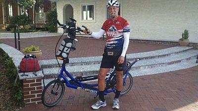 Rick Hermelin bikes across counrty for injured marines.