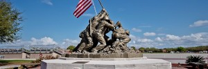 Iwo Jima Monument at Parris Island's Peatross Parade Deck