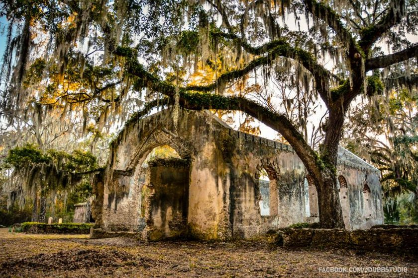 St. Helena Island's Chapel of Ease  Photo courtesy Jdubbstudio Design and Photography