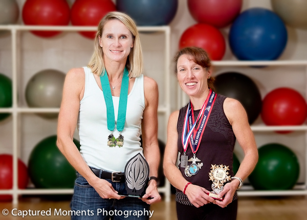 Local YMCA employees practice what they preach.  Heather Bruner and Denice Davis  (Photo Eric R. Smith)