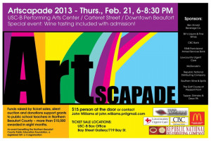 """""""Artscapade,"""" an evening of art auctions, wine tastings, fun and friendship Feb. 21, will raise money to be shared with public school teachers across northern Beaufort County."""