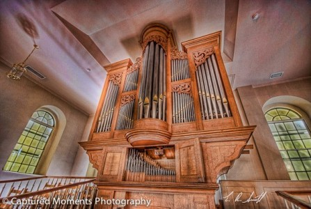 A beautiful organ graces the inside of the Parish Church of St. Helena. Photo by Eric R. Smith