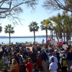 Candice Glover Rally in Beaufort's Henry C. Chambers Waterfront Park.