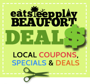 EatSleepPlayBeaufort.com Deals: SAVINGS at some of Beaufort's favorite places to Eat, Sleep and Play.