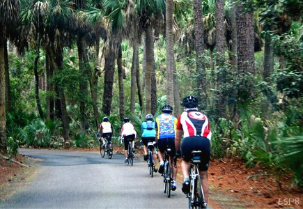 Biking at Hunting Island Beach can be competitive or leisurely