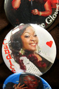 Candice Glover buttons for sale at St. Helena Elementary