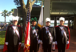 Beaufort celebrated Flag Day with the Knights of Columbus in a ceremony at Henry C. Chambers Waterfront Park.  Photo by Whitney Rauenhorst