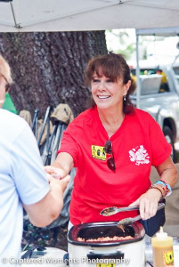 Over 100 volunteers helped out at the High on the Hog BBQ Festival