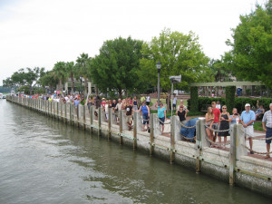 Beaufort Water Festival concludes with Blessing of the Fleet: from the boat's point of view  Photo by Mary Ellen Thompson