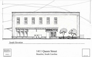Beaufort Town Center to add new building, more shopping.  Rendering by architect Rob Montgomery
