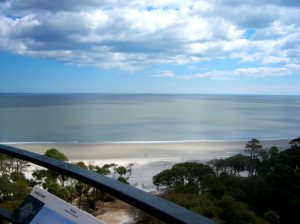 """Some say """"you can see the ends of the Earth"""", from the observation deck at the Hunting Island Lighthouse Photo ESPB"""