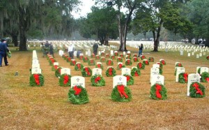 Beaufort Chapter 12, Disabled American Veterans has been asking for sponsorships for the 2013 Wreaths Across America for $15.00 each.  Photo courtesy United States Veteran's Administration Flick