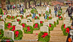 Beaufort Chapter 12, Disabled American Veterans has been asking for sponsorships for the 2013 Wreaths Across America for $15.00 each.  Photo by Eric R. Smith/Captured Moments Photography