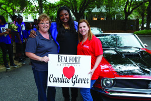 Candice Glover and Beaufort Lifestyle's Julie Hales and Susan DeLoach