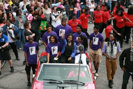 Candice Glover's American Idol hometown hero parade.  Photo by Angela Halopulos