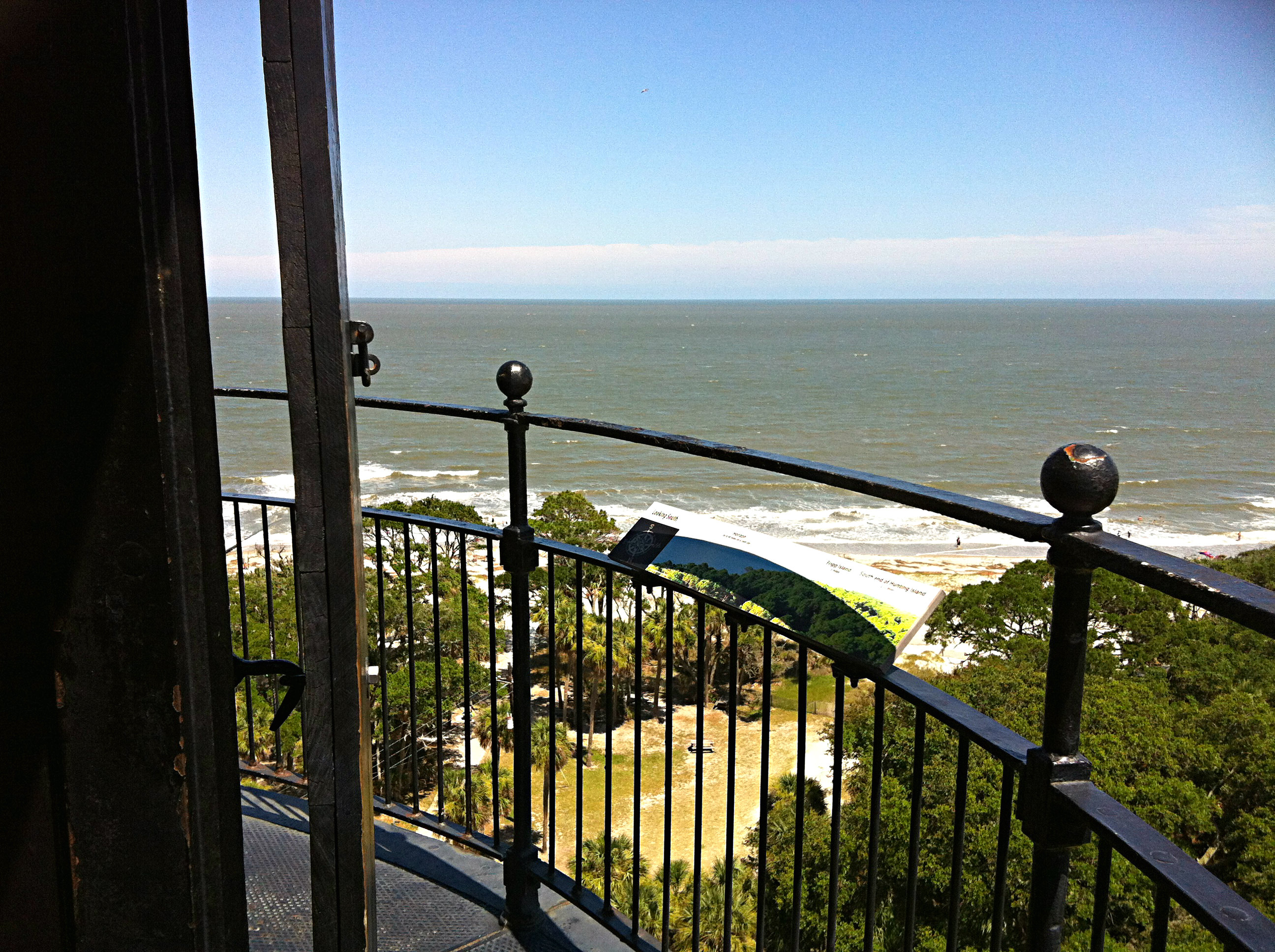 Hunting Island's Lighthouse: Up you go, step by step to the top