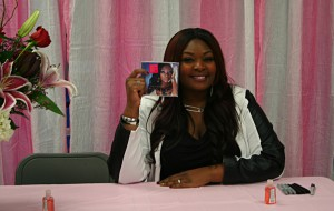 Fans line up as Candice Glover comes home to Beaufort to celebrate her new album, Music Speaks, at an album signing event .