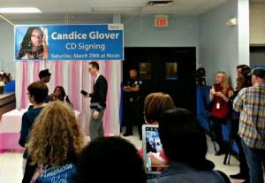 A fan photo taken from the line to see Candice Glover at the Walmart in Beaufort on Saturday afternoon.