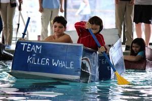 Riverview hosts its first Cardboard Boat Regatta  Photo by Kelley Luikey