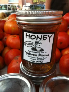 Local honey at the Port Royal Farmers Market Photo by Susan Clark