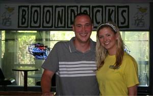 Emily Burkhalter and Travis Hunter, part of the new ownership team at Boondocks Restaurant