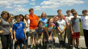Last year, students from Beaufort Academy volunteered at an oyster reef build at Beaufort's Pigeon Point Landing
