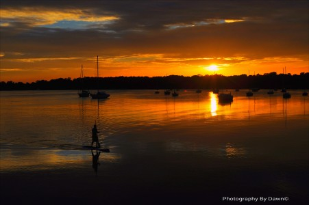 Paddleboarding around Beaufort. It's an experience like something from a vacation brochure.