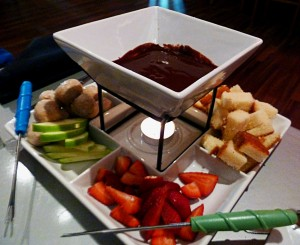 "Our server said the words ""chocolate fondue"", and the rest is history."