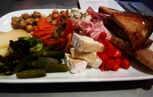 The 'Meta' y Medio' platter was also great. Some notable inclusions on the plate included roasted fava beans, brie cheese, speck, and these little red balls called sweety peps.