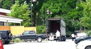 Crews loading trucks today as Olive Garden and Red Lobster close.