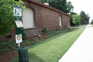 Rotary Clubs of Beaufort sponsor pet waste stations on the Spanish Moss Trail