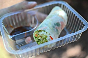 I ordered a shrimp summer roll from Papaya Thai Cuisine's booth and enjoyed the freshness of the roll and the crunch of the lettuce. I could eat these for lunch everyday.