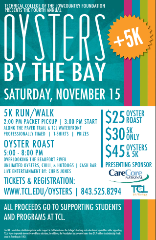 5th Annual Oysters by the Bay Oyster Roast & 5K