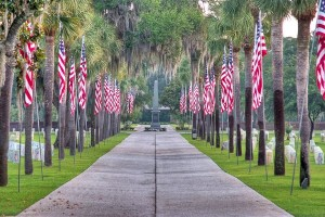 Honoring all vets on Veteran's Day. Photo: Beaufort National Cemetery